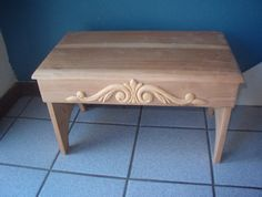 Step Stool, Foot Stool, Unfinished Step Stool, Home Decor