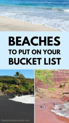 best beaches. places to visit to add to your world bucket list. dream vacations Us Beach Vacations, Beach Vacation Spots, Travel Destinations Beach, Hawaii Vacation, Hawaii Travel, Beach Trip, Places To Travel, Vacation Ideas, Travel Tips