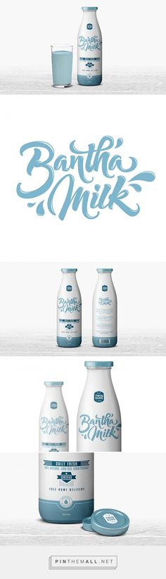 Bantha Milk by Arnaud DOS SANTOS. Source: Daily Package Design Inspiration. Pin curated by #SFields99 #packaging #design #inspiration #branding #milk