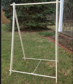 Portable Clothes Rack for Events and Camping (Wood Garment Rack) - Woodworking - clothes rack garment rack - Honor Before Victory Portable Clothes Rack, Wooden Clothes Rack, Wooden Closet, Portable Closet, Diy Clothes Rack, Sale Clothes, Checklist Camping, Camping Hacks, Camping Gear