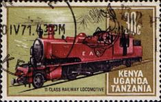 Postage Stamps Kenya Uganda Tanzania 1971 Railway Transport SG 292 Fine Used Scott 229 Other KUT Stamps HERE