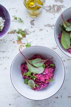 Red beet buckwheat 'risotto'