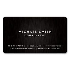166 best automotive business cards images on pinterest business elegant professional plain black modern metal double sided standard business cards pack of 100 reheart Choice Image