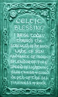 Celtic Morning Blessing Plaque by Midnight Moon. Art for home and garden created in the Celtic Tradition by Ann and Jon Maglinte. Celtic Symbols, Celtic Art, Celtic Knots, Celtic Paganism, Celtic Crafts, Irish Quotes, Irish Sayings, Scottish Sayings, Irish Proverbs