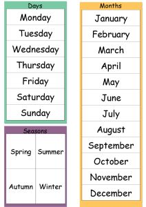 Today Is (Dates, Weather & Seasons) Chart - MindingKids English Activities For Kids, Learning English For Kids, English Worksheets For Kids, English Lessons For Kids, English Language Learning, Teaching English, French Language, English Vocabulary Words, Learn English Words