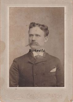 Antique Photograph of Man Mustache Id'd as Thos. J.Landrum Louisville, KY