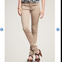 Tan skinny jeans from Gap