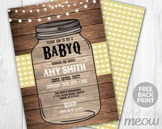 BABYQ Baby Shower Invitation Couples BBQ Invite by wowwowmeow