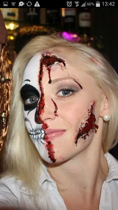 halloween facepainting + special effects :) Special Effects, Halloween Face Makeup, Make Up, Artist, Artists, Makeup, Beauty Makeup, Bronzer Makeup