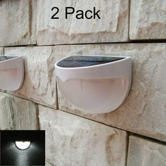 COOLWEST 2 Pack Outdoor Solar Powered andBright LED Security Light Weatherproof  #COOLWEST