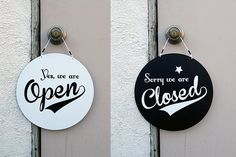 Vintage Style Open/Closed sign by Arttempo on Etsy