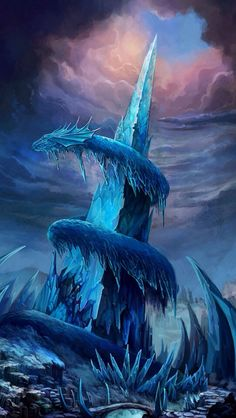 Frozen Dragon Statue wallpaper from Dragons wallpapers Mythological Creatures, Fantasy Creatures, Mythical Creatures, Ice Dragon, Dragon Art, Snow Dragon, Dragon Blood, Fantasy World, Fantasy Art