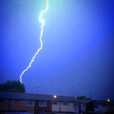 Lightning strike near my home! - Aylesbury, United Kingdom