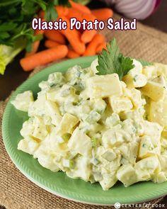Classic Potato Salad - centercutcook.com (I would not use mustard, vinegar, or green onions)