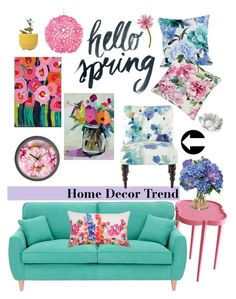 """Spring Florals"" by amybaby13 ❤ liked on Polyvore featuring interior, interiors, interior design, home, home decor, interior decorating, Oomph, Fearne Cotton, One Bella Casa and Designers Guild"