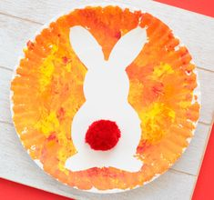 paper plate craft Easter Bunny