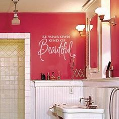 Girls bathroom... I so want to have this painted on my daughter's bedroom and bathroom walls