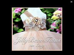 Flower girl dress. Champagne flower girl tutu by Jillybeantutus