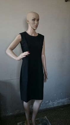 Shirred Sleeveless Black Dress without Belt available at (699 INR)