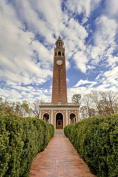 Bell tower at University of North Carolina