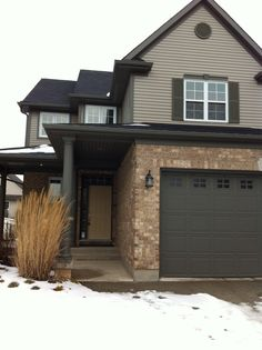 Exterior-I love mixing bricks, stone, etc with a vinyl siding. It looks so awesome