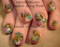 """Nail-art by Robin Moses: """"nail art"""" """"spring nail art"""" """"peach nails"""" """"lavender nail art"""" """"purple nails"""" """"pastel nail art"""" """"cute spring nail art"""" """"spring flower nails"""""""