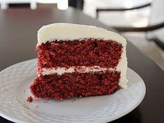 Receita Sobremesa : Bolo aveludado vermelho (red velvet cake) de Smello