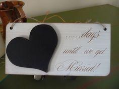 Wedding Countdown Sign Wedding Countdown Chalkboard Sign by Crafu