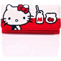 Loungefly Hello Kitty Milk Wallet ($30) ❤ liked on Polyvore featuring bags, wallets, flap wallet, pink wallet, trifold wallets, tri fold wallet and fish bag