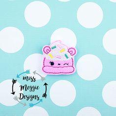 Num Ice Cream feltie ITH Embroidery design file