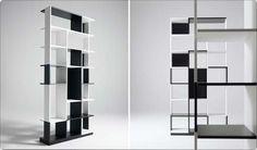 Risultato della ricerca immagini di Google per http://www.sololibrerie.it/Assets/Libreria-bifacciale-componibile-bianca-nera-Kimono1.jpg