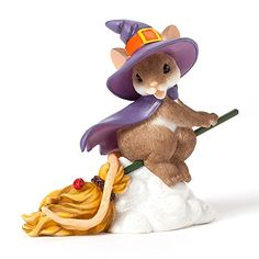 "Enesco Charming Tails Figurine, 3.25-Inch, ""Witch Flying on Broom"" Enesco http://www.amazon.com/dp/B00IE9B4IQ/ref=cm_sw_r_pi_dp_I9s4tb1A5Y0TX"