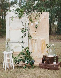 Beautiful ceremony Greenery flowers bohemian weddinginspiration wedding mariage decoration