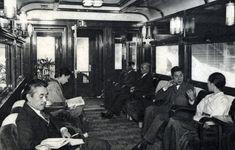 77년 전 한반도 풍경(사진) - 경부선 열차 1등실 First Class Lounge Car on the Gyeongbuseon Railway Line 1938