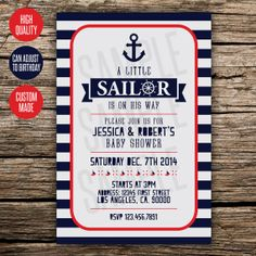 Nautical Baby Shower / Birthday Invitation by RicoTheCreator, $10.00