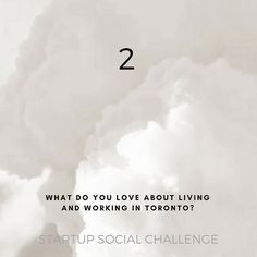 Part of an ongoing social media challenge for startups   via @cynefinco  @50coffeesto   Their goal is to encourage startups to share their narrative in creative ways by providing a series of thought provoking questions and prompts.   Let's have some fun with this and hopefully spark some friendly discussions as well!   To participate be sure to use #startuphereto and tag @startuphereto for a chance to be featured on our IG feed.  We are dedicated to celebrating Toronto's innovative startup…