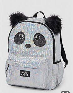 Justice is your one-stop-shop for on-trend styles in tween girls clothing & accessories. Shop our Sparkle Panda Wristlet. Cute Mini Backpacks, Stylish Backpacks, Girl Backpacks, Justice Backpacks, Justice Bags, Sequin Backpack, Backpack Purse, Fashion Bags, Fashion Backpack