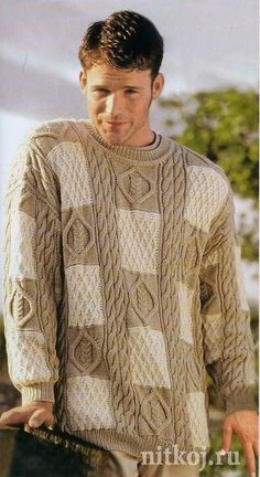 Пуловер с рельефными квадратами. Обсуждение на LiveInternet - Российский Сервис Онлайн-Дневников