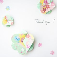 Sometimes a simple handmade thank you card is a perfect way to say thank you.