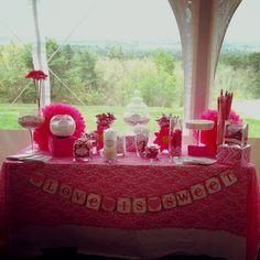 bridal shower candy station! 'Love is sweet'