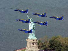 Happy Memorial Day ~ Blue Angels flying over the Statue of Liberty in NYC | by BurtonAl