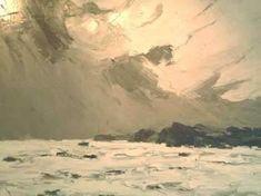 Sir Kyffin Williams, Rough Sea, Oil painting
