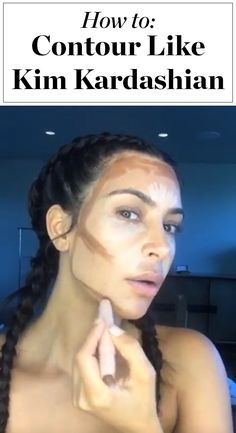 Kim Kardashian showed us exactly how to use her new KKW Beauty contouring kit! Click through for the full step-by-step tutorial