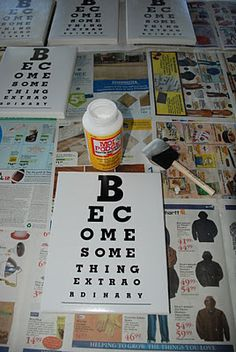 Make your own eyechart art on canvas