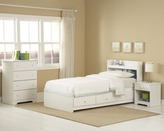 high quality twin bed with storage white - Google Search