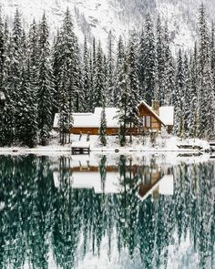 Reasons to Start Planning Your Alberta Winter Vacation Emerald Lake Lodge! So beautiful and the lake and mountains are even better!