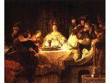 `Samson`s Wedding Feast` by Rembrandt. Canvas, 1638. Dresden, Staatliche Kunstsammlungen, Gem ldegalerie..