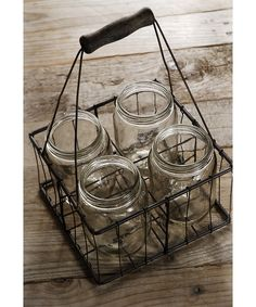 Mason Jar & Wire Basket Set