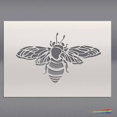 Bumble Bee Stencil for Walls Furniture and Art Bee Stencil, Spray Paint Stencils, Stencil Art, Stencil Designs, Stenciling, Bee Outline, Bee Painting, Bee Images, Outline Drawings