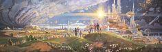 EPCOT: Horizons Mural : RetroFuturism